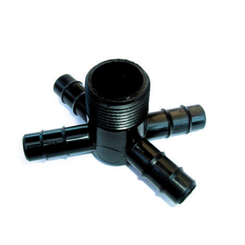מחבר שן 4 דרך הברגה חיצונית/פנימית Alonplastic - מוצרי גינון והשקייה